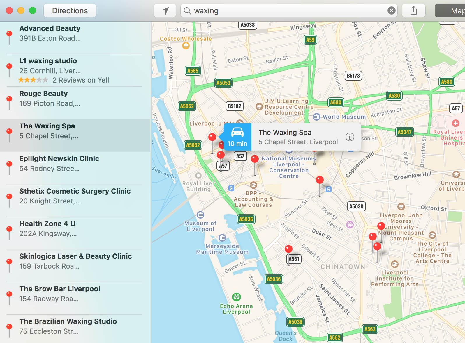 local seo and google maps Liverpool
