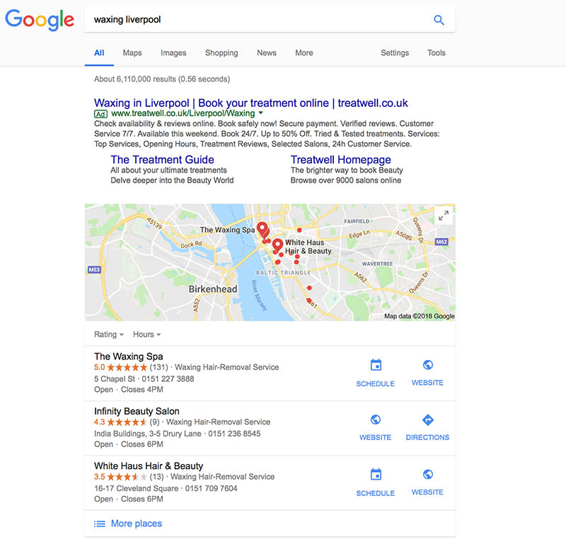 local seo client results